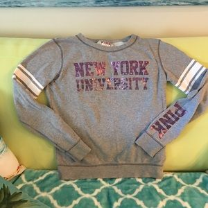 NYU sweatshirt Violets PINK Collegiate